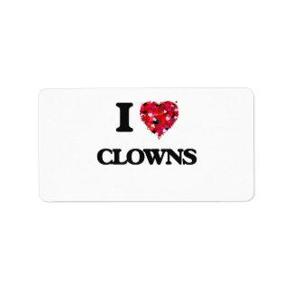 I love Clowns Address Label
