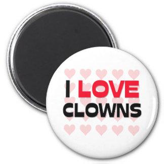 I LOVE CLOWNS FRIDGE MAGNETS