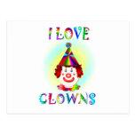 I Love Clowns Postcard