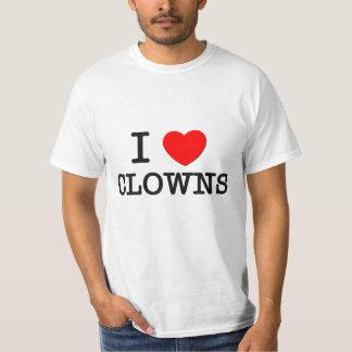 I Love Clowns Tee Shirt