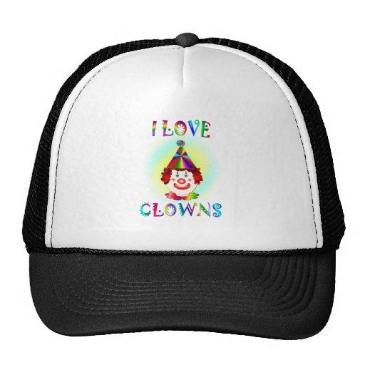 I Love Clowns Trucker Hats
