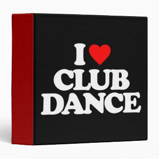 I LOVE CLUB DANCE BINDER