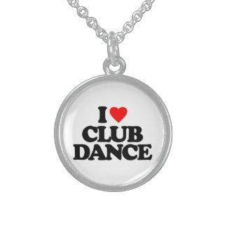 I LOVE CLUB DANCE ROUND PENDANT NECKLACE