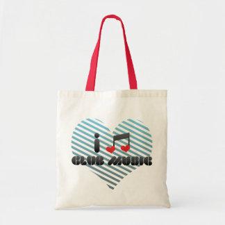 I Love Club Music Tote Bags