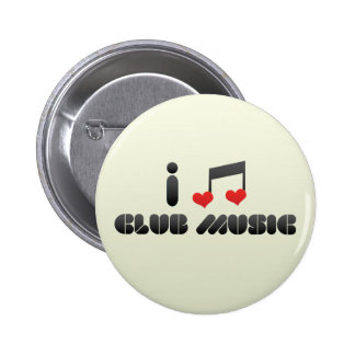 I Love Club Music Buttons