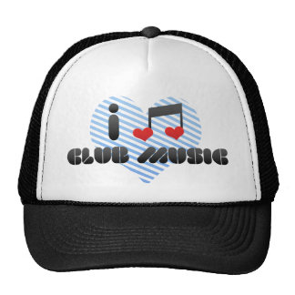 I Love Club Music Mesh Hat