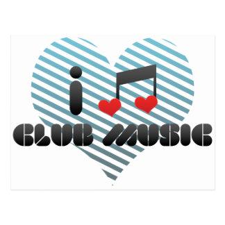I Love Club Music Post Card