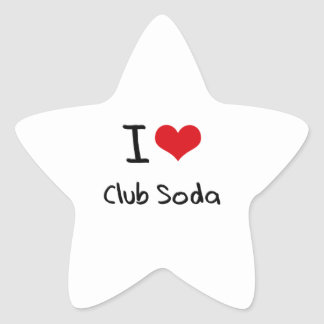 I love Club Soda Star Sticker
