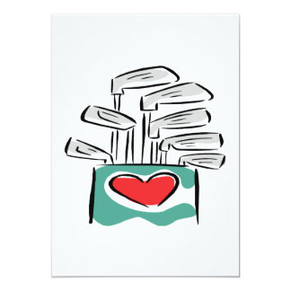 I Love Clubs 5x7 Paper Invitation Card