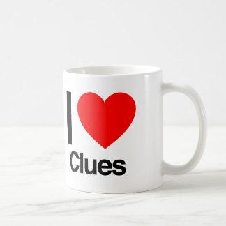 i love clues mug