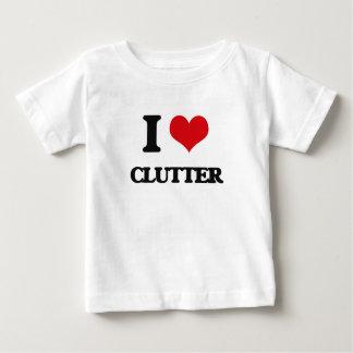 I love Clutter Tee Shirts