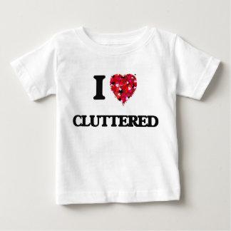 I love Cluttered Tee Shirt