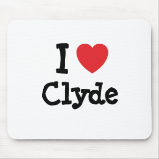 I love Clyde heart custom personalized Mouse Mats