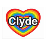 I love Clyde. I love you Clyde. Heart Postcard