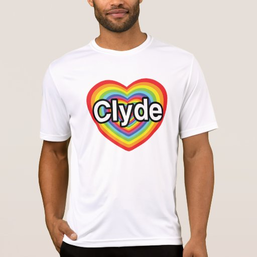 I love Clyde: rainbow heart T-Shirt