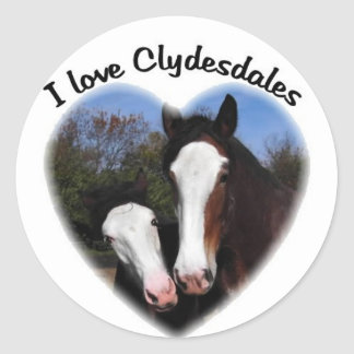 I love clydesdales sticker