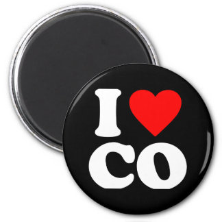 I LOVE CO 2 INCH ROUND MAGNET