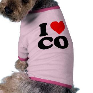 I LOVE CO DOG TEE SHIRT