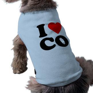 I LOVE CO PET TSHIRT