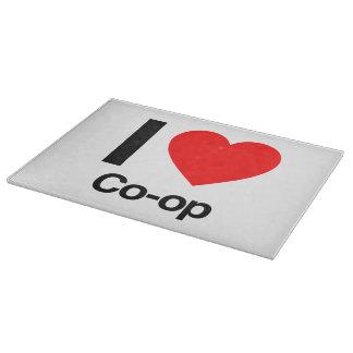 i love co-op cutting board