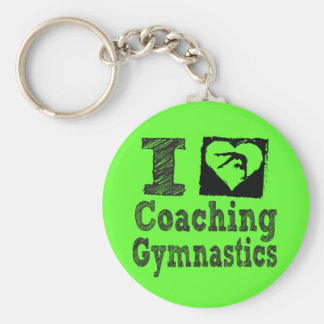 I Love Coaching Gymnastics Keychain