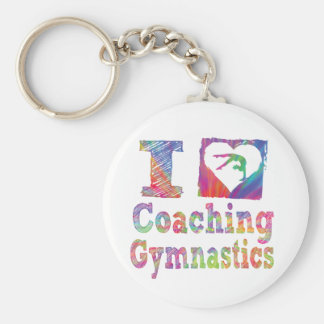 I love Coahing Gymnastics Key Chain