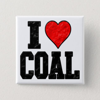 I Love Coal Button
