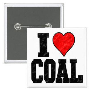 I Love Coal 2 Inch Square Button