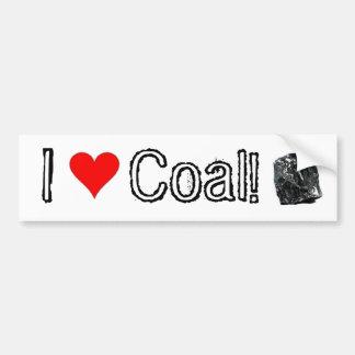 I Love Coal!  - Coal supporter bumper sticker Car Bumper Sticker