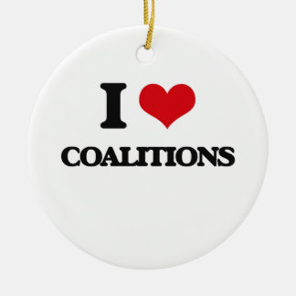 I love Coalitions Christmas Ornament