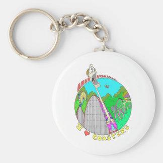 I LOVE Coasters Basic Round Button Keychain