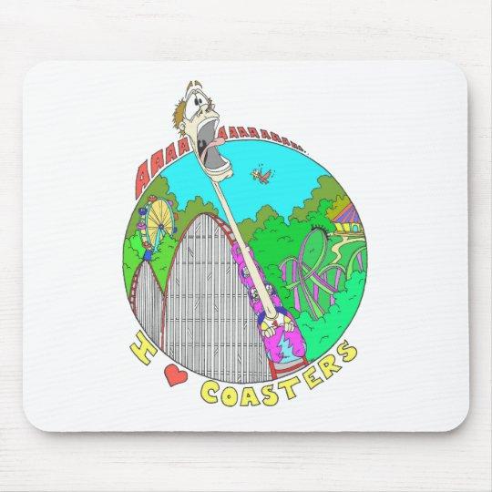 I LOVE Coasters Mouse Pad