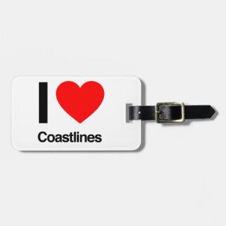 i love coastlines travel bag tags