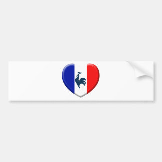 I love cock France flag Bumper Sticker