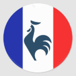 I love cock France flag Classic Round Sticker