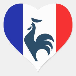 I love cock France flag Heart Sticker