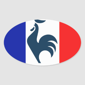 I love cock France flag Oval Sticker