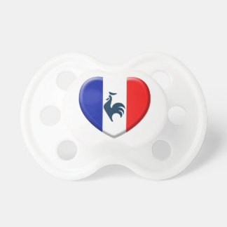 I love cock France flag Pacifier