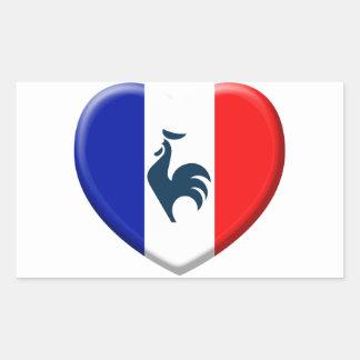 I love cock France flag Rectangular Sticker