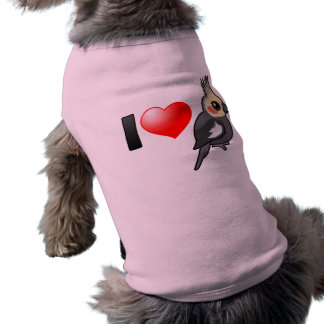 I Love Cockatiels Doggie Tee