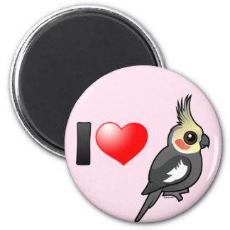 I Love Cockatiels 2 Inch Round Magnet