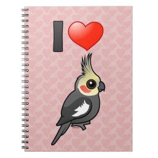 I Love Cockatiels Spiral Notebook