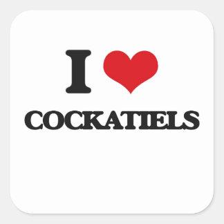 I love Cockatiels Square Sticker