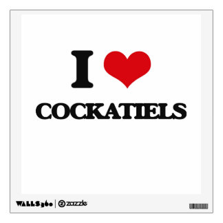 I love Cockatiels Wall Skins