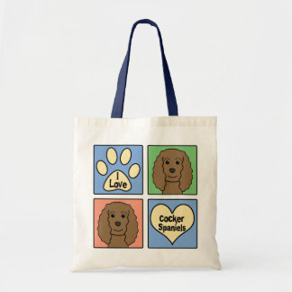 I Love Cocker Spaniels Bag