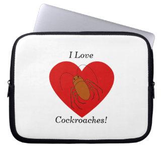 I love cockroaches laptop sleeve