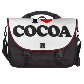 I LOVE COCOA LAPTOP COMMUTER BAG
