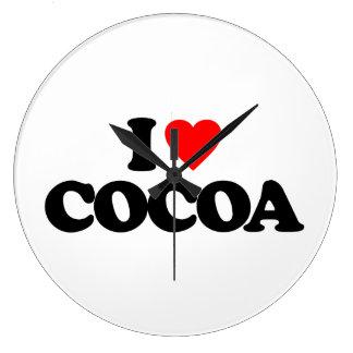 I LOVE COCOA LARGE CLOCK