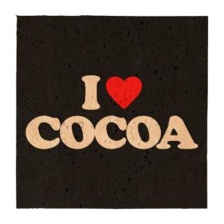 I LOVE COCOA DRINK COASTERS