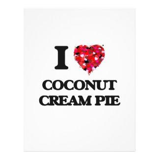 """I love Coconut Cream Pie 8.5"""" X 11"""" Flyer"""